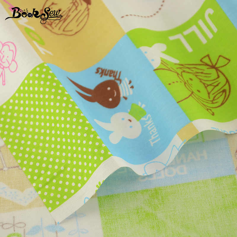 2017 Lovely Cartoon Pattern Home Textile Quilting Fabric 100% Cotton Twill Fabric  Tissue For Swing Bedding Baby Kid Clothing