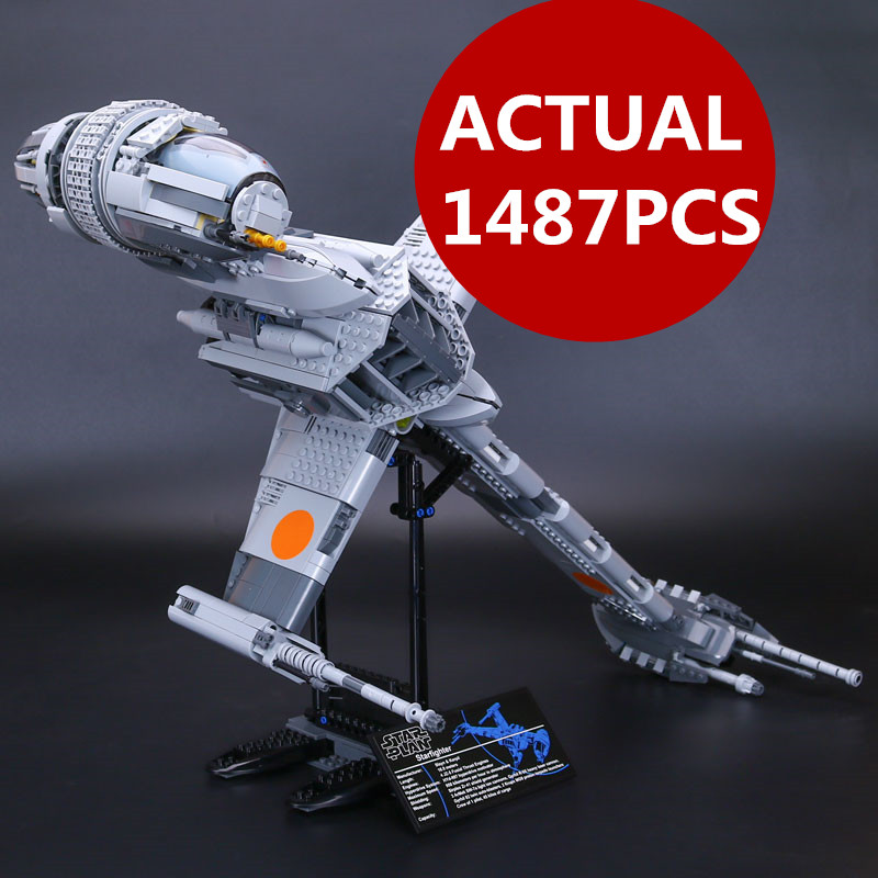 Lepin 05045 The B Starfighter wing Star 1487pcs Genuine War Series Educational Building Blocks Bricks Toys 10227 for Gifts model for the duration the war years