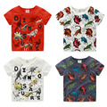 2016 Summer Children'S Clothing Boys Kids Basic Dinosaur Print Short-Sleeve Shirt