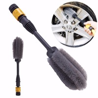 1pc High Pressure Tire Brush Car Clean Tool Rotates By Water Power Auto Car Tires Washing