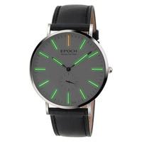 EPOCH 6025G waterproof 50m tritium gas luminous ultrathin case business men quartz watch wristwatch