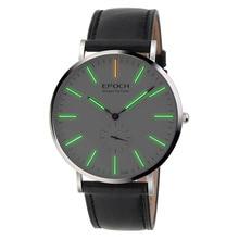 EPOCH 6025G waterproof 50m tritium gas luminous ultrathin case business men quartz watch