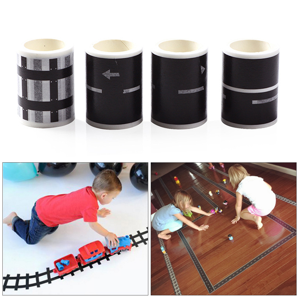 Railway Highway Road Tape Sticker Wide Creative Traffic Road Adhesive Masking Tape Road For Kids DIY Toy Car PlayRailway Highway Road Tape Sticker Wide Creative Traffic Road Adhesive Masking Tape Road For Kids DIY Toy Car Play