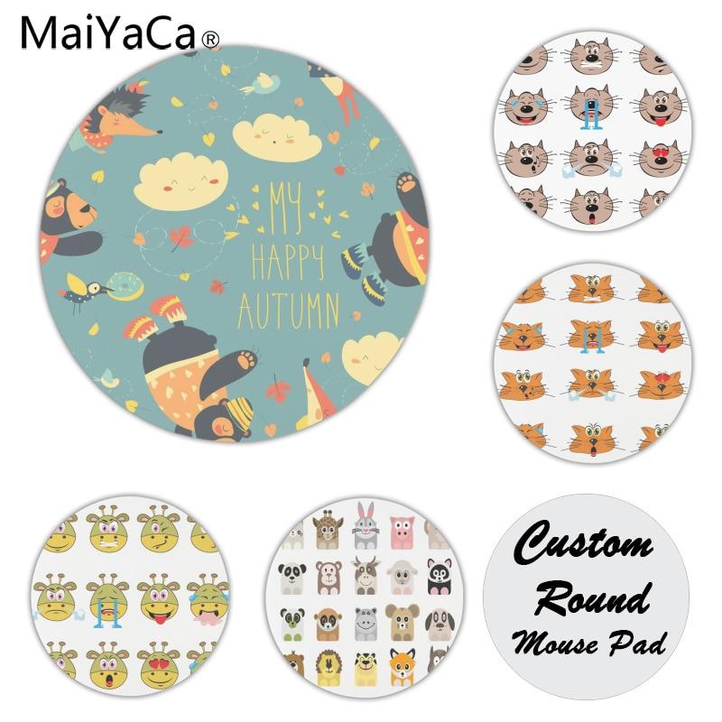 Maiyaca Нескользящие PC мультфильм Животные коврик для мыши геймер играть коврики Размеры для 20x20 см 22x22 см резиновая Мышь коврики