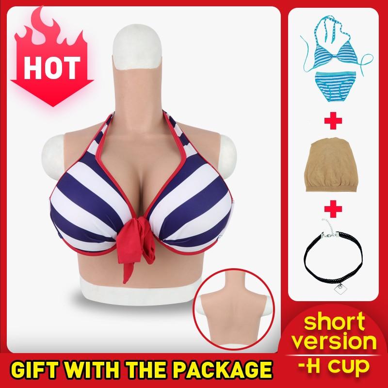 Roanyer transgêneros crossdresser formas de mama de silicone artificial falso H Copo masculino para feminino Realista crossdressing Peitos Falsos