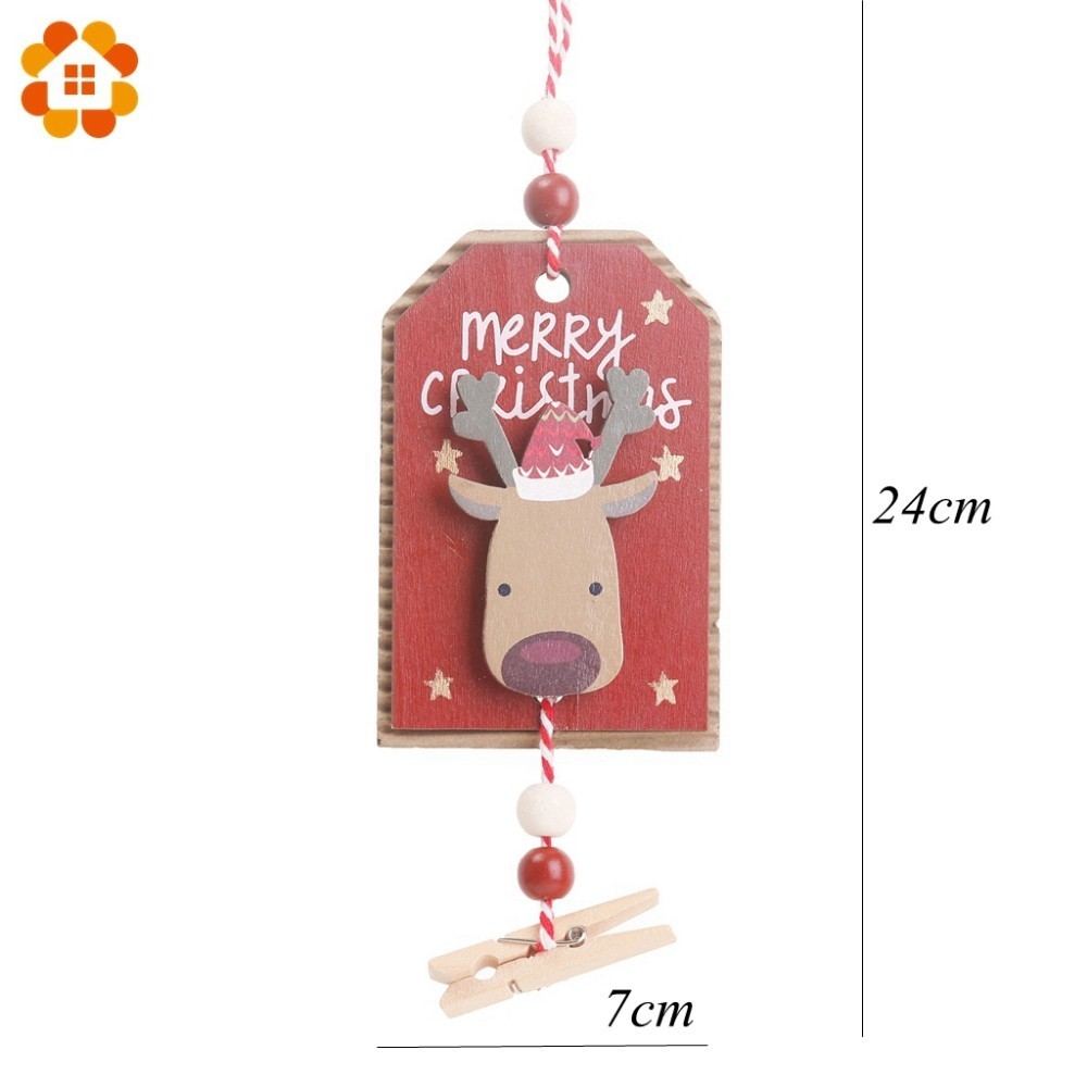 New 3 Types DIY Christmas Wooden Pendants Clips Ornaments For Xmas Tree Ornaments Christmas Party Decorations Kids Gift in Pendant Drop Ornaments from Home Garden