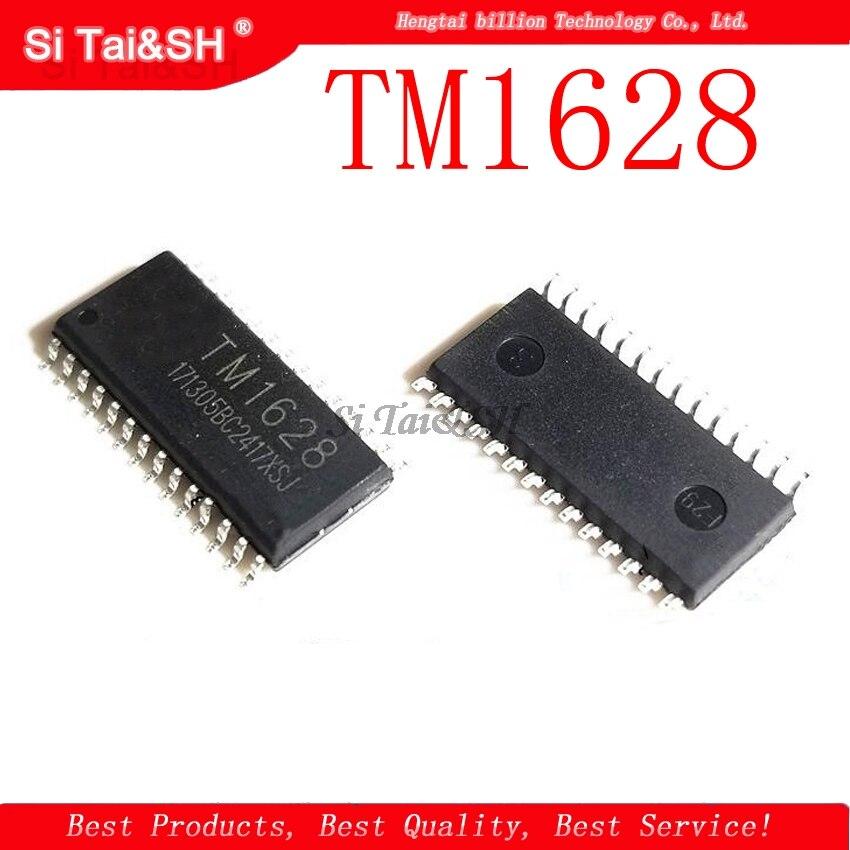 1pcs/lot TM1628 LED Driver IC 1628 SOP-28 SMD LED Digital Display Driver IC Original - A2125