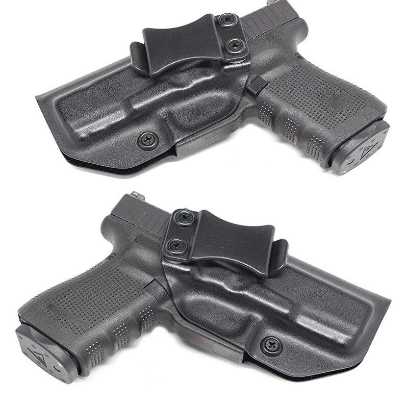 En el interior de la cintura de IWB Kydex Funda personalizada para Glock 17 19 22 23 25 26 27 31 32 33 43 oculta pistola de 9mm pistola caso beltclip