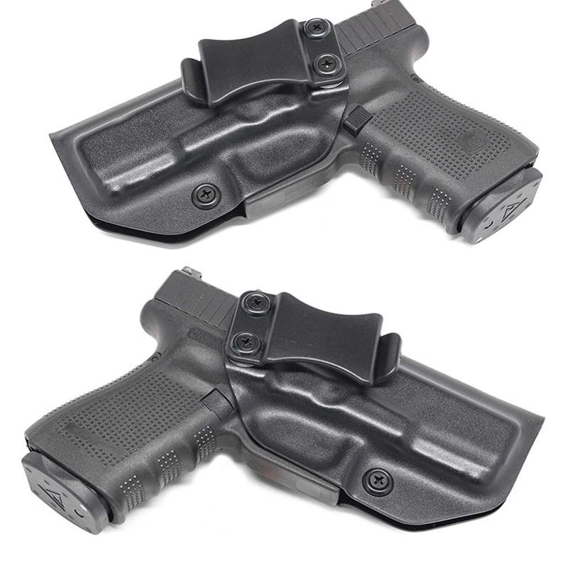 Inside The Waistband IWB Kydex Holster Custom For Glock 17 19 22 23 25 26 27 31 32 33 43 Concealed 9 mm Gun Pistol Case beltclip