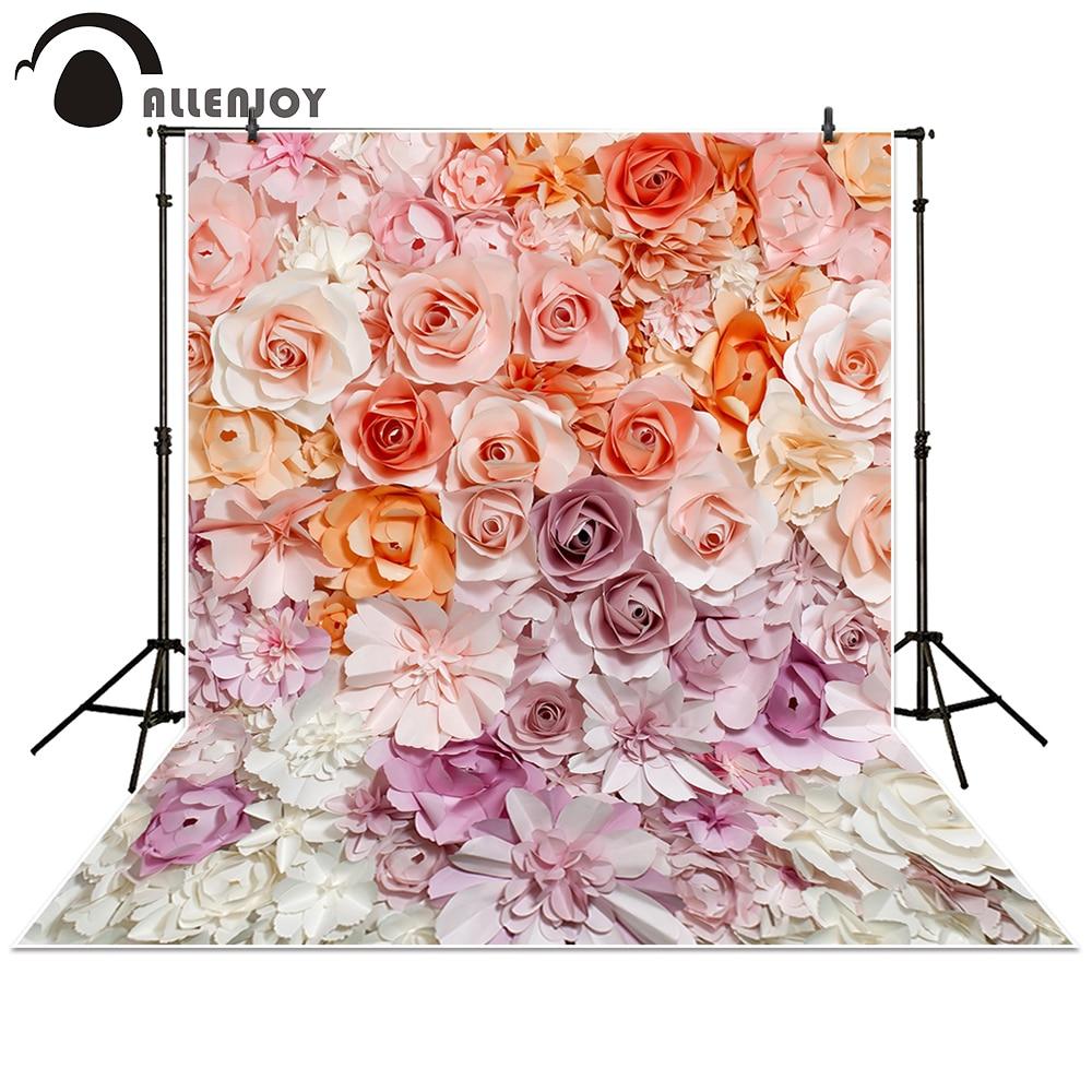 Allenjoy Fotografía Telón de fondo de papel flor de la pared - Cámara y foto - foto 1