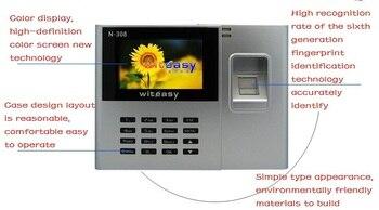 2.8 inch Color Biometric Fingerprint Time Attendance Clock Employee Payroll Recorder N-308 free Ship shipping
