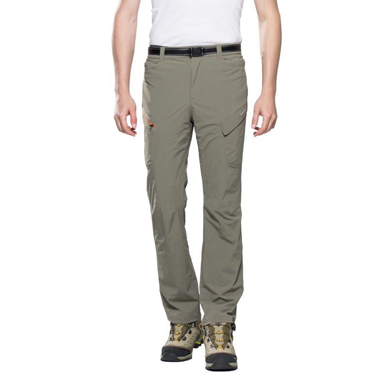 Ārā vīriešiem pavasarī un vasarā atgrūdošas ātri žūstošas vīriešu kvalitātes kempinga sporta bikses Elpojošas alpīnisma bikses