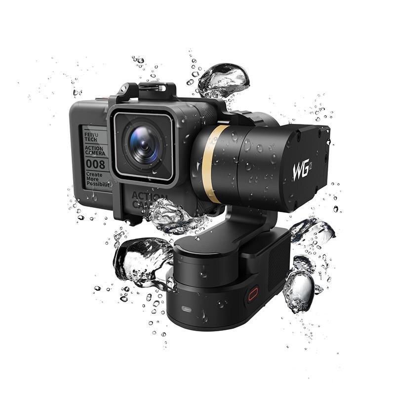 FeiyuTech Feiyu WG2 stabilisateur de cardan étanche 3 axes portable montable pour GoPro 6 4 5 Session YI 4 K SJCAM AEE caméra d'action