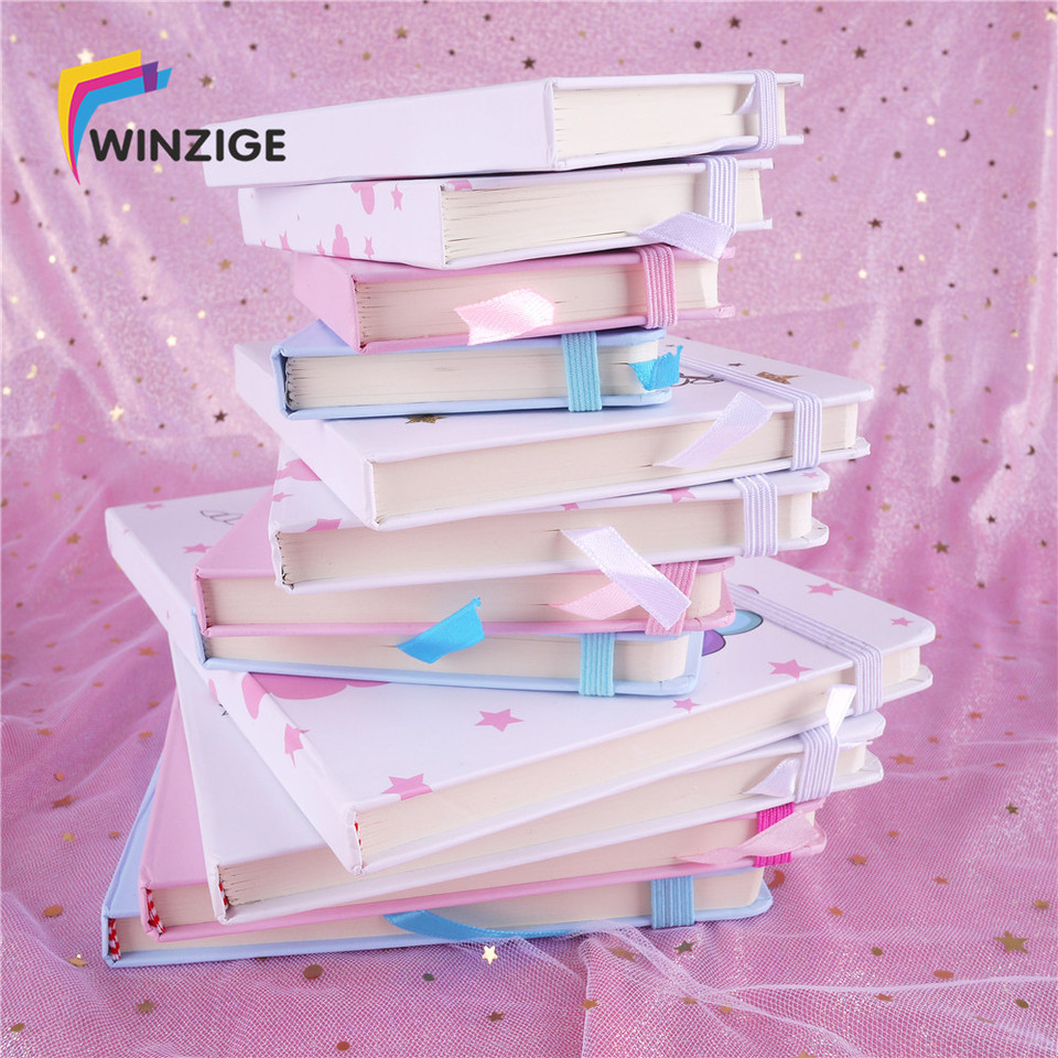 Winzige A6 A5 Unicorn Planner Hard Cover Kawaii Diary Agenda