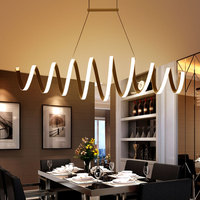 AC85 260V Modern Led Chandelier For Dining Room Bar Kitchen Aluminum Acrylic White Hanging Pendant Chandelier