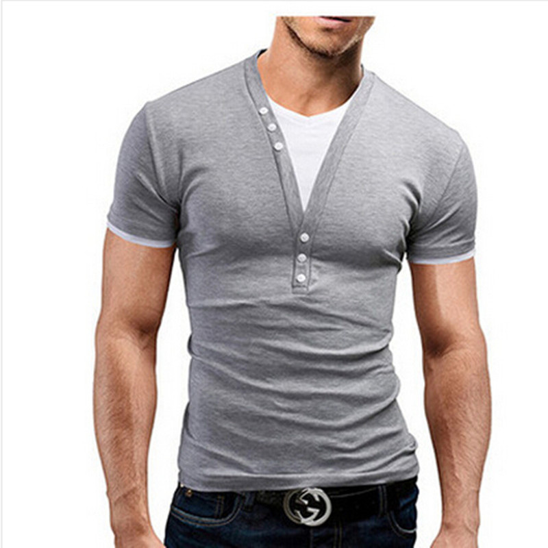 2019 New Unique Design Fake Two Mens Short Sleeve T Shirt