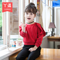 children's clothing han edition of new fund of 2016 autumn outfit long-sleeved T-shirt free shipping
