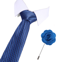 2019 New Fashion Wedding Men Tie Red Dot Tie Free Gift Brooch Designer Ties For Men Business 7.5cm Groom Drop shipping fashionable dot shape decorated wedding red tie for men
