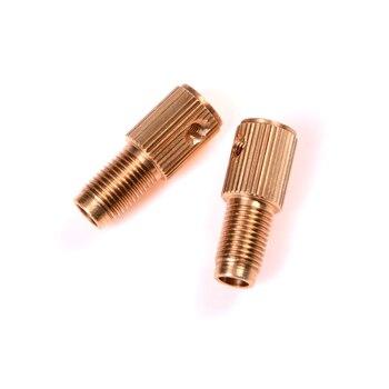 2 ชิ้น 2.3mm เจาะ Chuck Collets Quick Chuck สำหรับเครื่องมือมินิทองแดงเจาะโฟลเดอร์หมวกทองแดงแกนเจาะเครื่องมือ