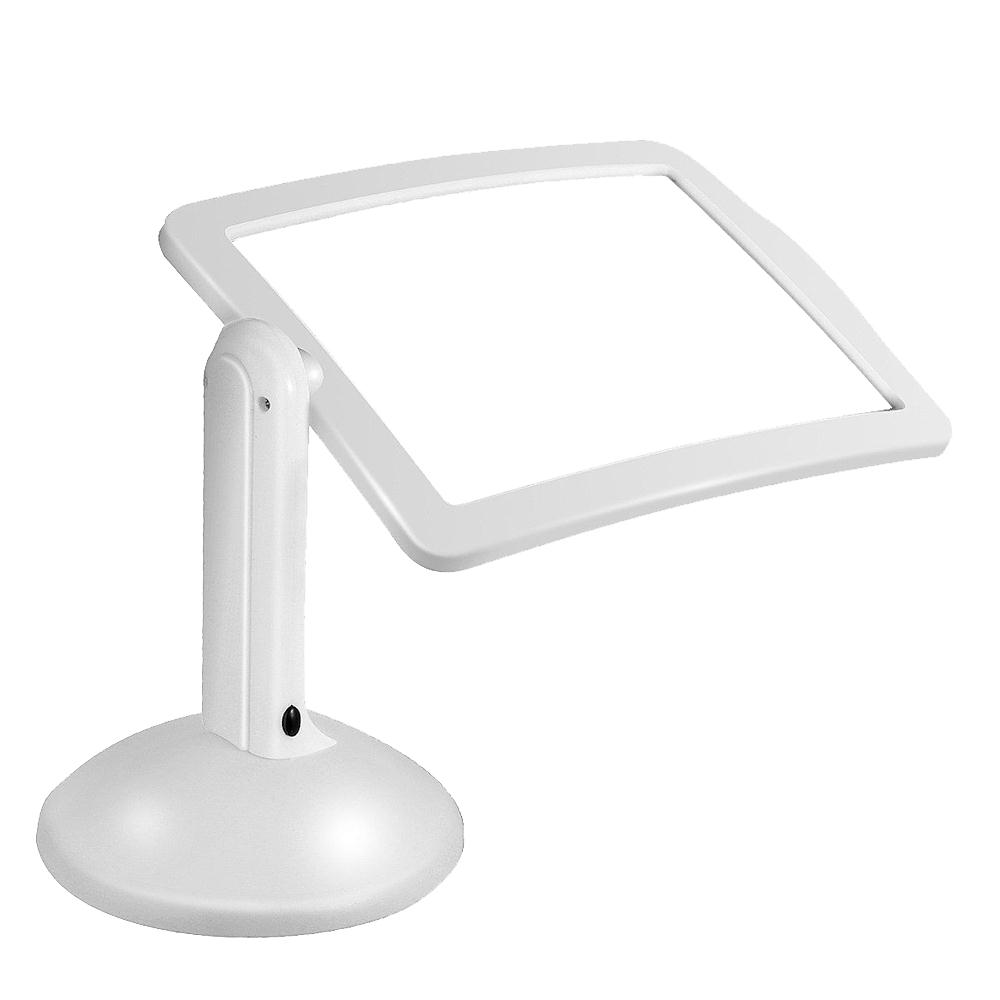 Jetery Reading Magnifier Desktop Light Table Lamp Rotate Practical White 3X Magnifying Tool Gadget new 1 8x 5x 10led illuminated plug in two purposes handheld desktop magnifier with light for reading working