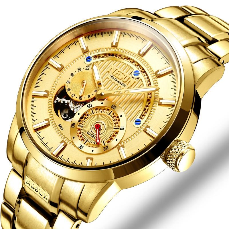 Luxury Brand NESUN Swiss Men's Watch Automatic Mechanical