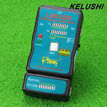 KELUSHI Free Shipping ! CT-168 Multi-Modular Network RJ45 Cat5 RJ11 Ethernet Hot Cable LAN USB Tester and USB Cable Test