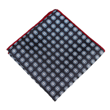 Bridegroom Wedding Business Men Tuxedo Suit Imitated Silk Black Blue Floral Embroidery Pocket Square Towel Handkerchief