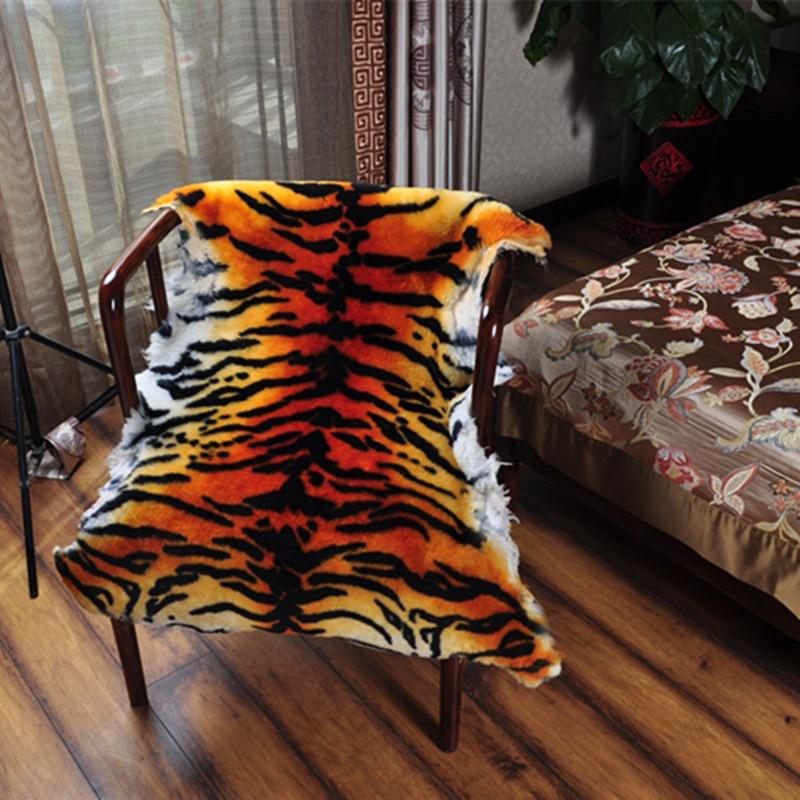 Imitate The Tiger Fur Tiger Skin Rug Fur Wool Carpets Bedroom Living Room  European Style Whole Sheepskin Cushion Sofa Cushion In Carpet From Home U0026  Garden ...