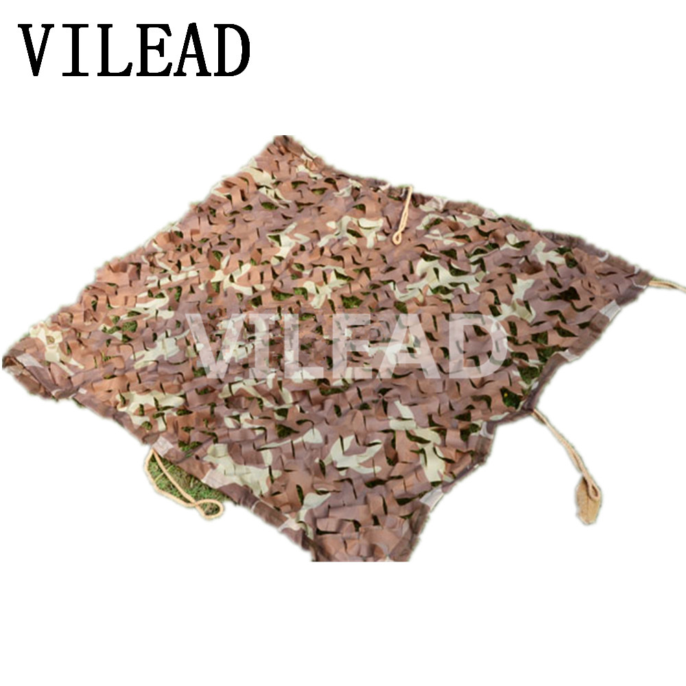 VILEAD 2M x 7M (6.5FT x 23FT) Desert  Military Camouflage Net Camo for Hunting Pretend Camping Tent Car Cover Activity Sun Shade vilead 7m desert camouflage net camo net for beach shade canopy tarp camping canopy tent party decoration bar decoration