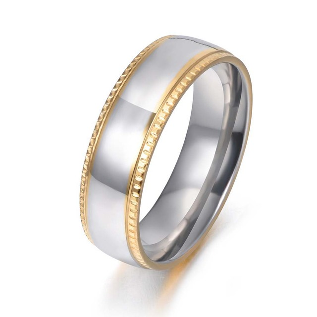 JeeMango Trendy Smooth Ring 316 Stainless Steel Anniversary Rings Jewelry For Me