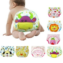 Children Cartoon Potty Leak-proof Diapers Training Pants Cotton Panties 80 90 100 Cm Briefs Newborn Underwear For Baby Boy jinobaby bamboo aio diapers heavy wetter potty training pants for babies