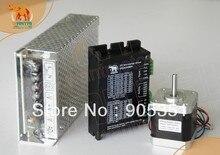 New Arrival! Wantai Nema 17 Stepper Motor 42BYGHW609 56oz-in+Driver DQ420MA 1.7A 36V 128Micro+Power CNC Plasma Grind Foam Laser
