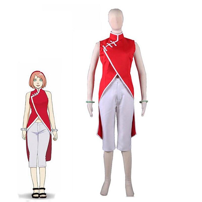 Movie Boruto: Naruto Haruno Sakura Cheongsam Women Halloween Carnival Cosplay Costume Custom Made