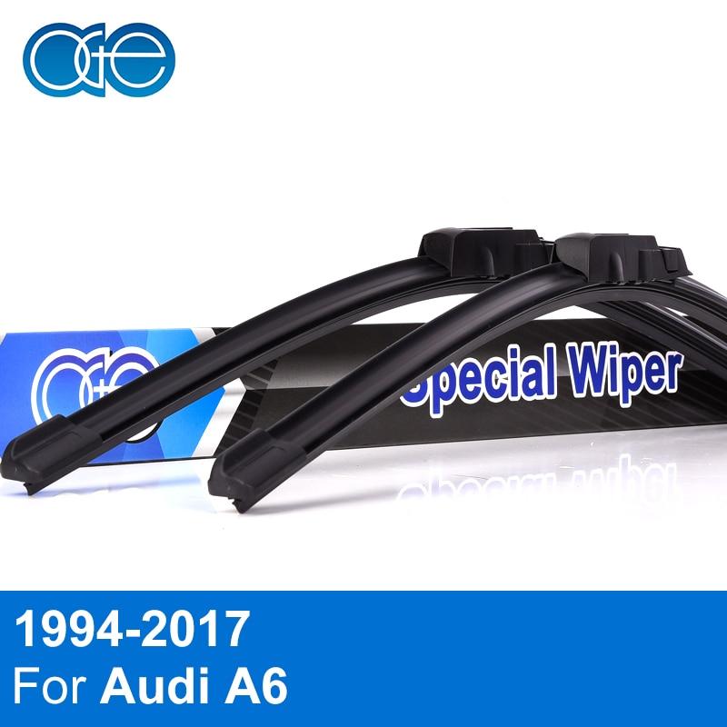 OGE Wiper Blades For Audi A6 C4 / C5 / C6 / C7 1994-2018 High Quality Rubber Windscreen Windshield Car Accessories oge windshield wiper blades for ford galaxy 1995 2001 28 28 r windscreen accessories
