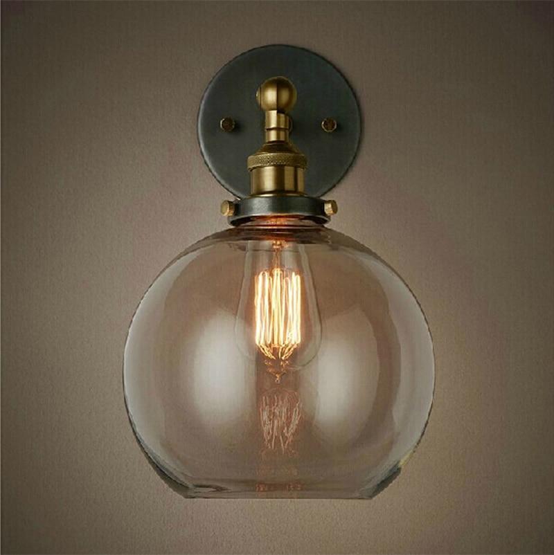 Ռետրո հնաոճ պատի լամպեր Մաքուր ապակե - Ներքին լուսավորություն - Լուսանկար 2