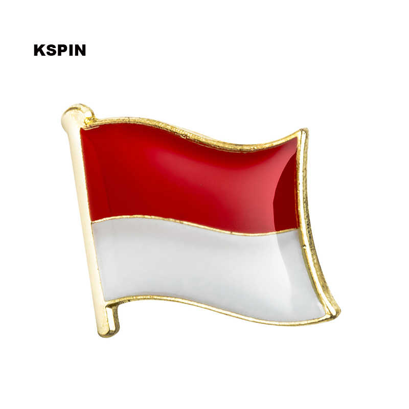 Bandera de Indonesia pin solapa pin broche iconos 1 Pza KS-0209