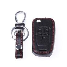 цена на Car Remote Key Leather Cover For Chevrolet Cruze TRAX Aveo Lova Sail EPICA Captiva Malibu Volt/Opel for car accessories
