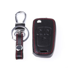 Car Remote Key Leather Cover For Chevrolet Cruze TRAX Aveo Lova Sail EPICA Captiva Malibu Volt/Opel(China)