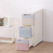 Новинка 2017 года коробка для хранения одежды для офиса, Пластик ящик организатор Макияж игрушка шкафы из трех Слои Box кабинет