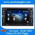 China, más barato de audio DVD GPS para Chery A3 A5 Tiggo apoyo BT USB control del volante MP3 envío 2015 mpa Perú