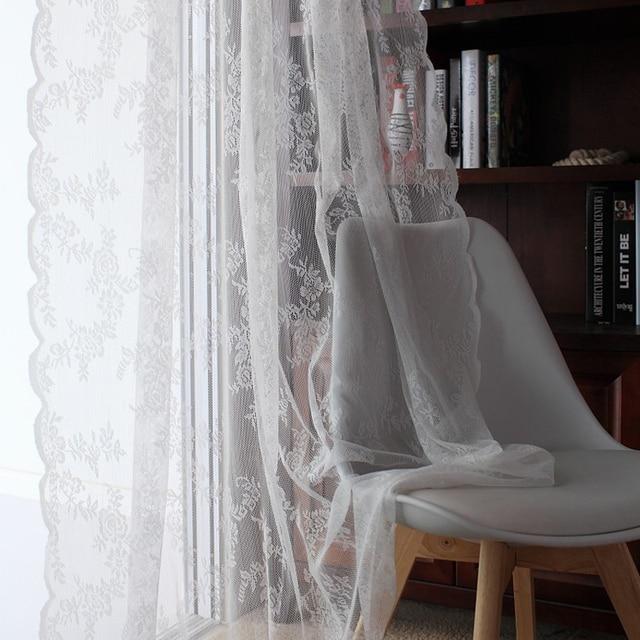 Tende di pizzo Finestra Della Cucina Rustica Home Decor Tendaggi Bianchi Modello