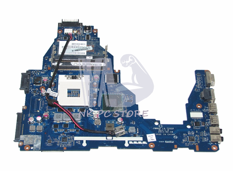 K000124370 LA-7202P Laptop Motherboard For Toshiba Satellite C660 Main Board HM65 DDR3 GMA HD3000 ytai l740 a000093450 hm65 date5mb16a0 mainboard for toshiba satellite l740 l745 laptop motherboard a000093450 hm65 date5mb16a0