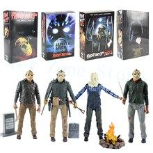 NECA Friday The 13th Jason Leven Pamela Voorhees Action Figure Final Hoofdstuk Jason 3D Masker Zaag Bijl Zwaard Mes Horror model Speelgoed