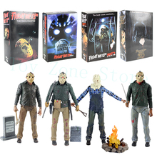 NECA Friday The 13th Jason Lives Pamela Voorhees Action Figure Final Chapter Jason 3D Mask Saw Axe Sword Knife Horror Model Toys