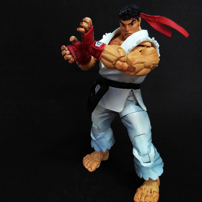 18cm NECA Player Select Ultra Street Fighter IV Survival Model Ken Masters Ryu Guile Gouki Action Figure Toy 5 Style White Black ultra street fighter iv цифровая версия