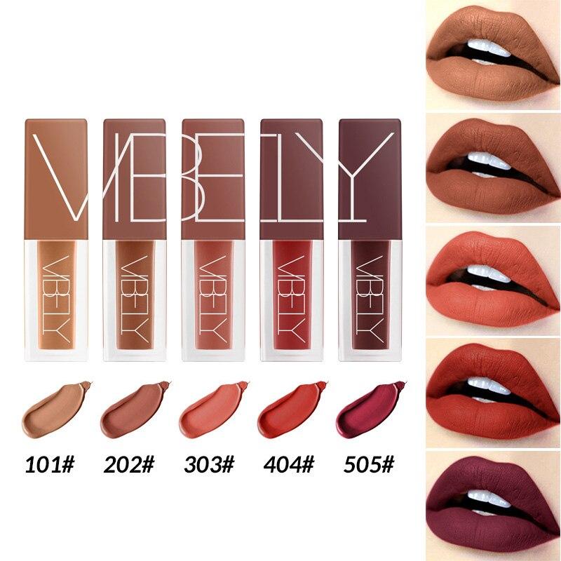 Hot sale 1 Set Liquid Lipstick Lip Glaze Matte Long Lasting Portable Fashion for Women in Lipstick from Beauty Health
