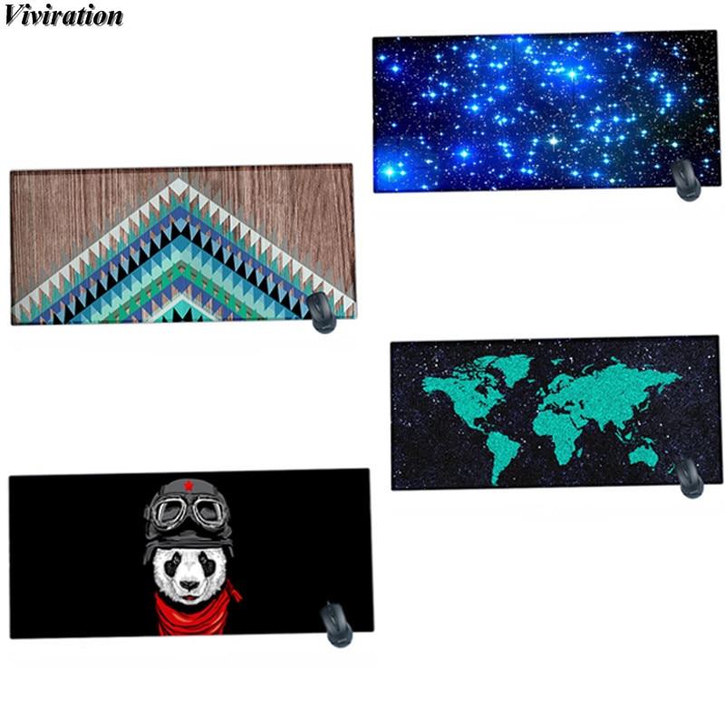 Viviration модные новые резиновые печати большой Размеры Мышь Коврики глядя край клавиатуры компьютера Мышь Pad нескользящая игровой Мышь pad