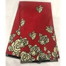 6 Yards Red Mitex Wax Print/ African Fabrics Kitenge/Pagnes/Tissues Africain/ Lapa/Chitenge LSCW-238