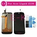 """Высокое качество 4.5 """"Для Acer Liquid Z330 ЖК-Дисплей + Сенсорный Экран Замена Digitizer Ассамблеи + Инструменты Бесплатная Доставка"""
