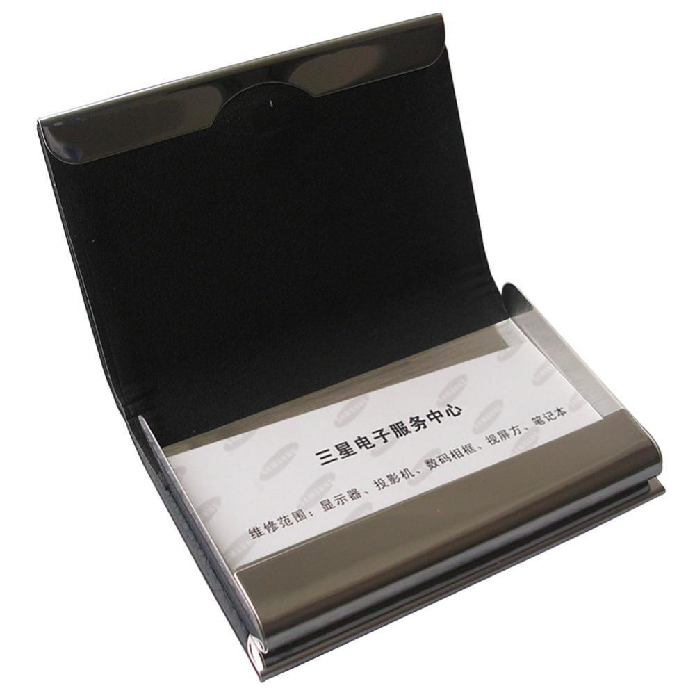 Hohe Qualität Magnetische Lock Pu Leder Business Name Karte Fall Visitenkarte Halter Brieftasche Lichee Muster 1192 Das Ganze System StäRken Und StäRken